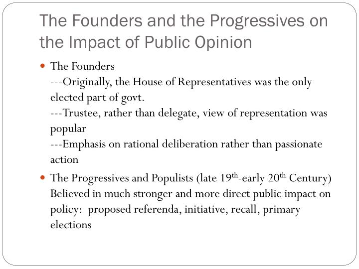 The Founders and the Progressives on the Impact of Public Opinion