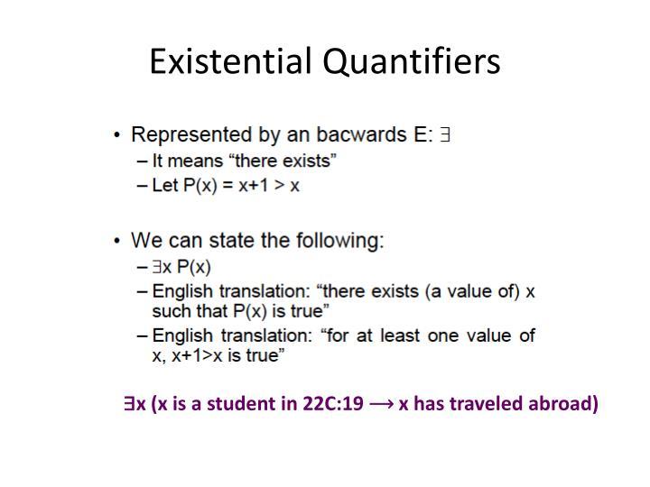Existential Quantifiers