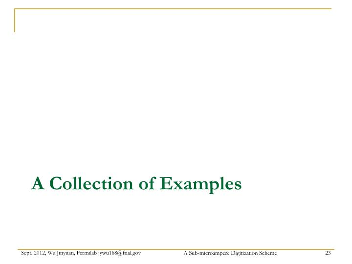 A Collection of Examples