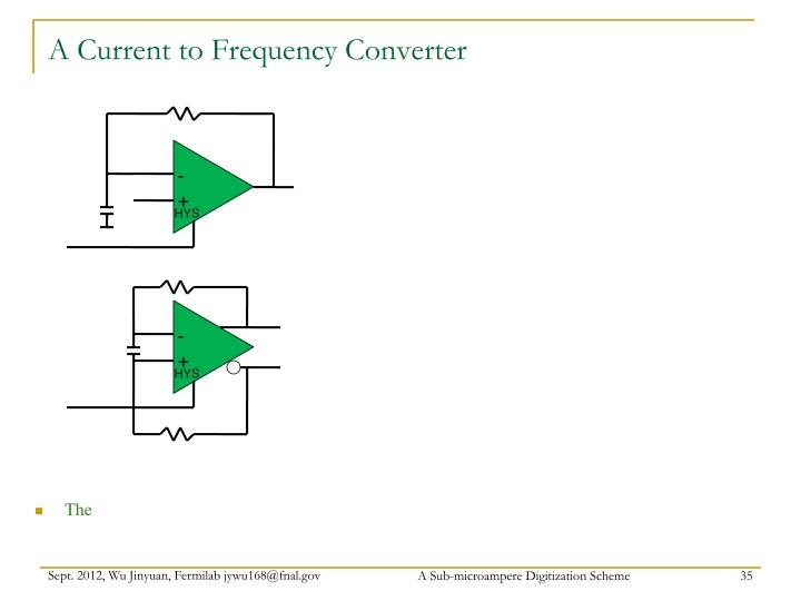 A Current to Frequency Converter