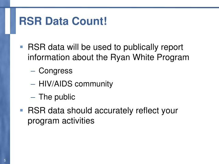 RSR Data Count!