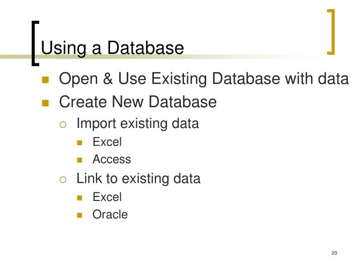 Using a Database