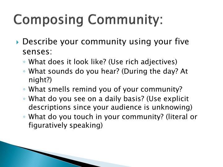 Composing Community: