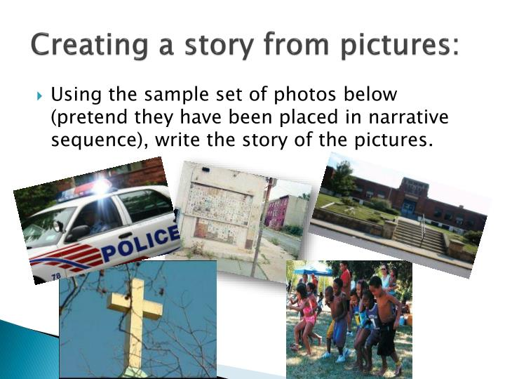 Creating a story from pictures: