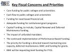 key fiscal concerns and priorities