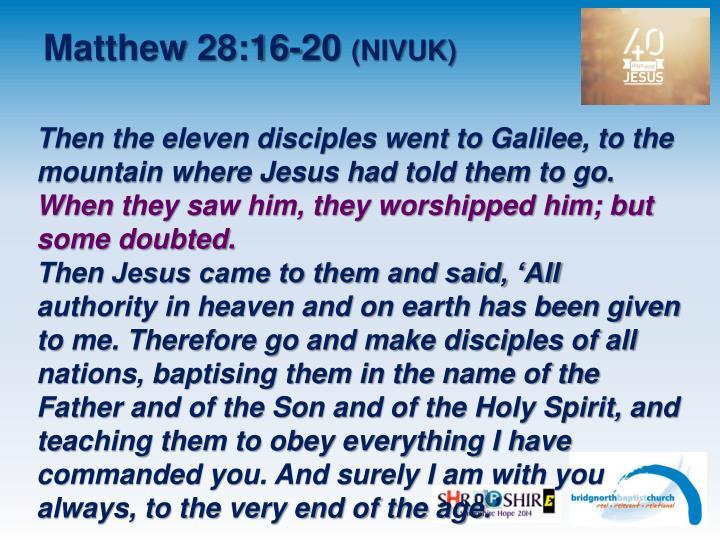 Matthew 28:16-20