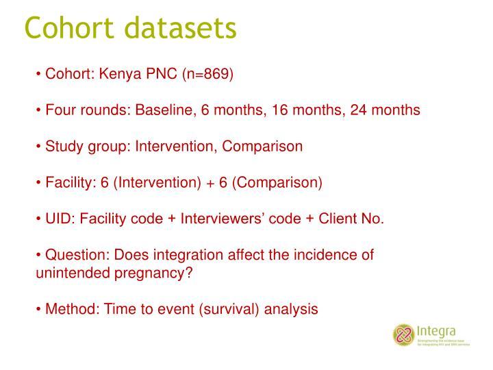 Cohort datasets