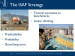 the isaf strategy