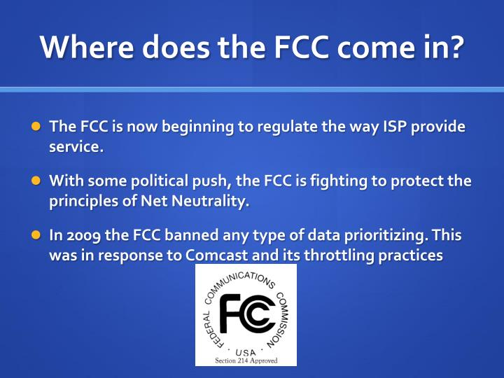 Where does the FCC come in?