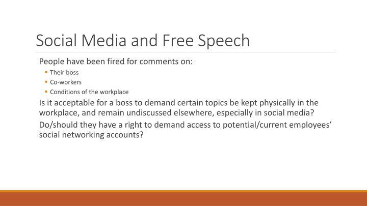 Social Media and Free