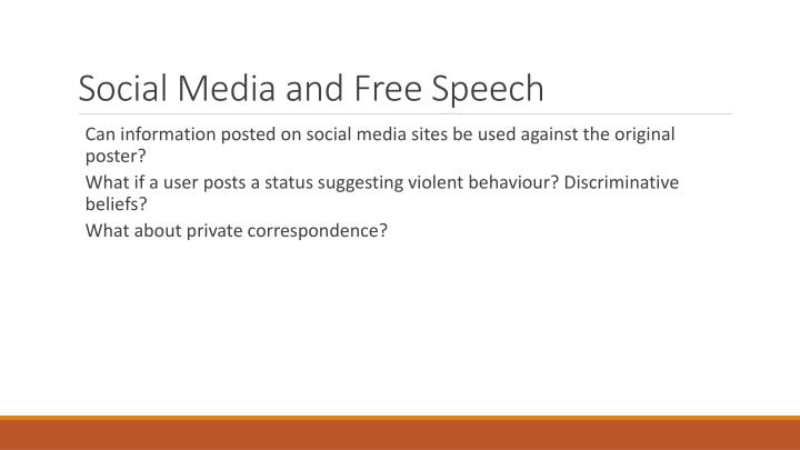Social Media and Free Speech