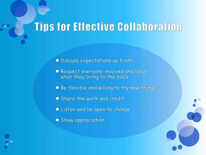 Tips for Effective Collaboration