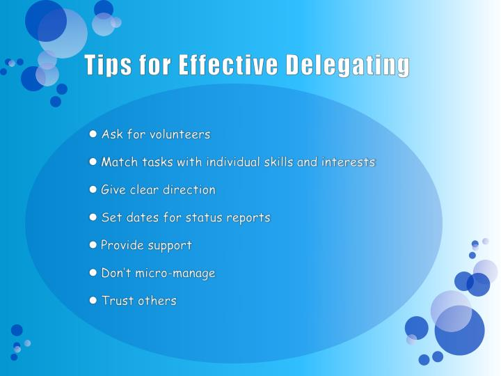 Tips for Effective Delegating