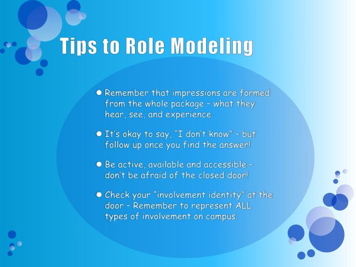 Tips to Role Modeling