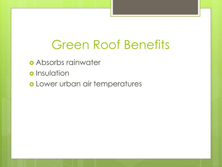 Green Roof Benefits