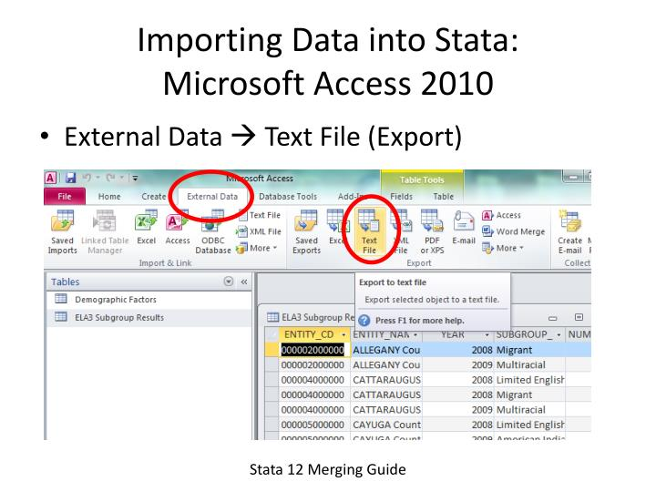 Importing Data into