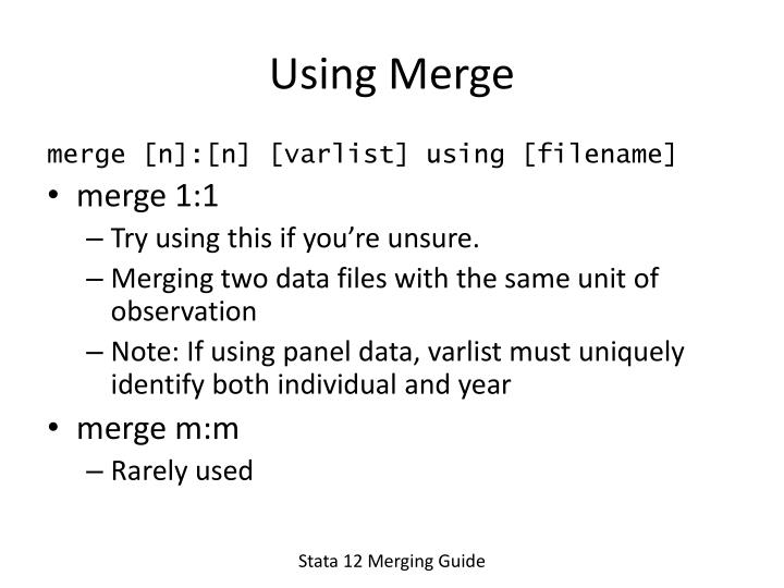 Using Merge