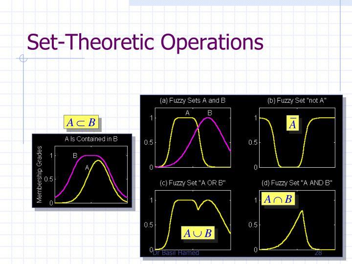 Set-Theoretic Operations