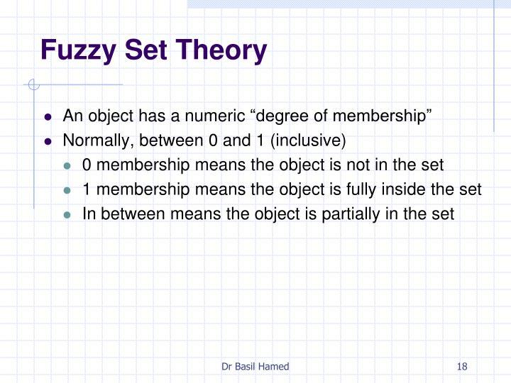 Fuzzy Set Theory