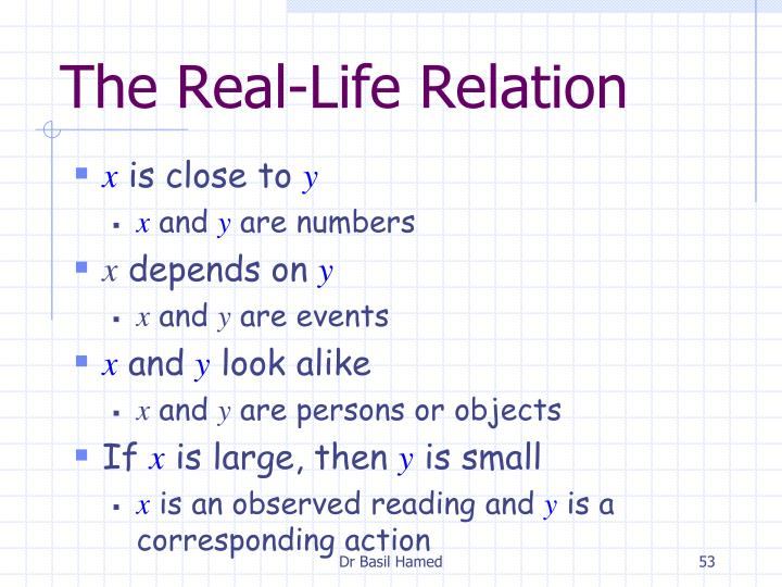 The Real-Life Relation