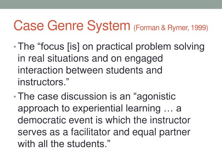 Case Genre System