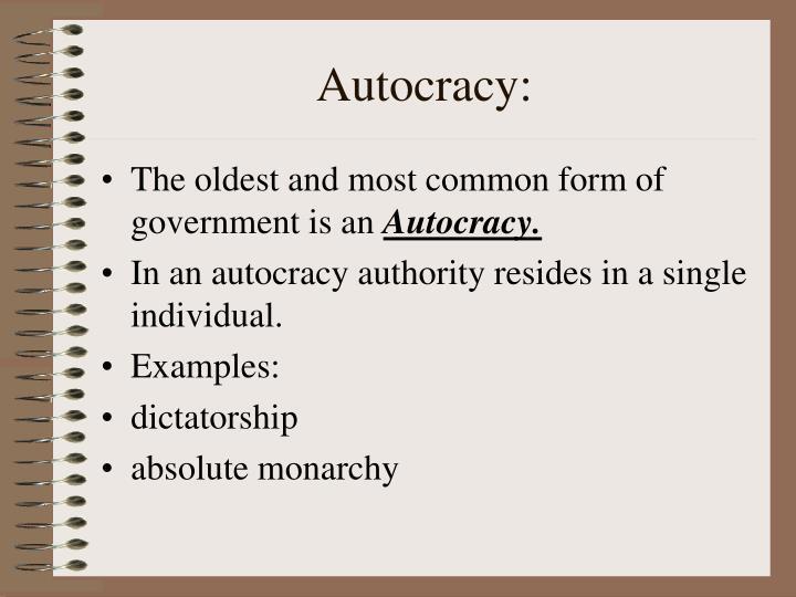 Autocracy: