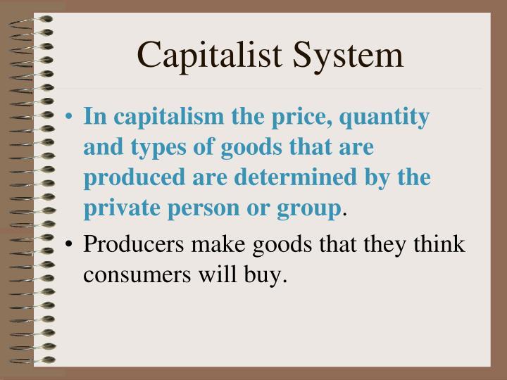 Capitalist System