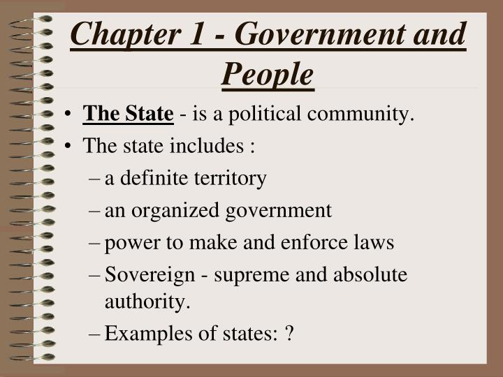Chapter 1 government and people