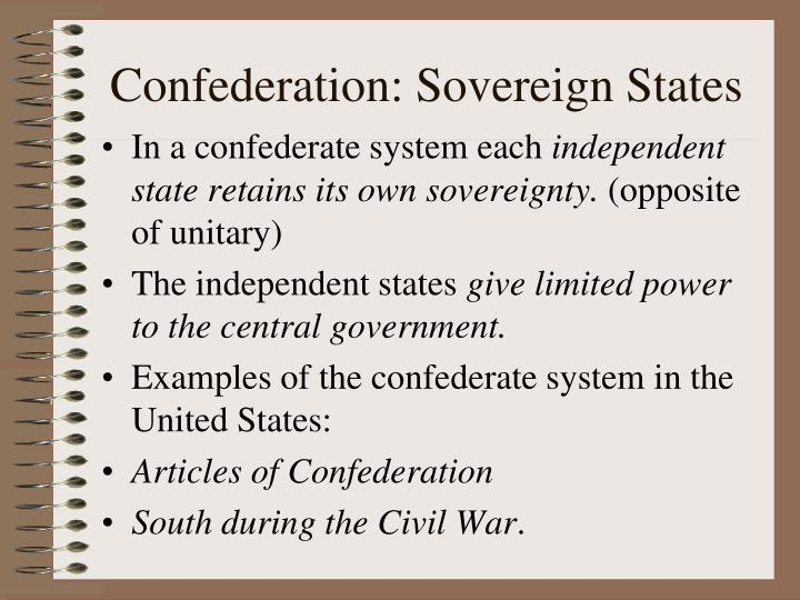 Confederation: Sovereign States