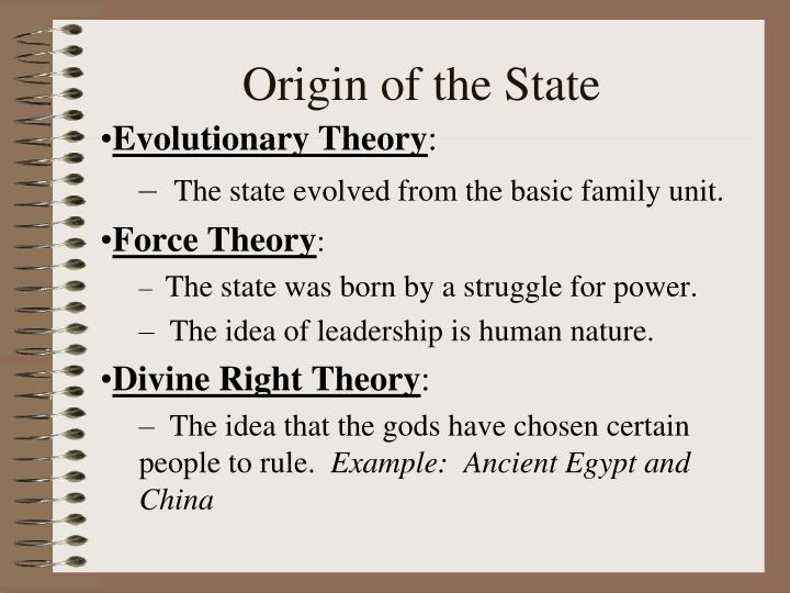 Origin of the State