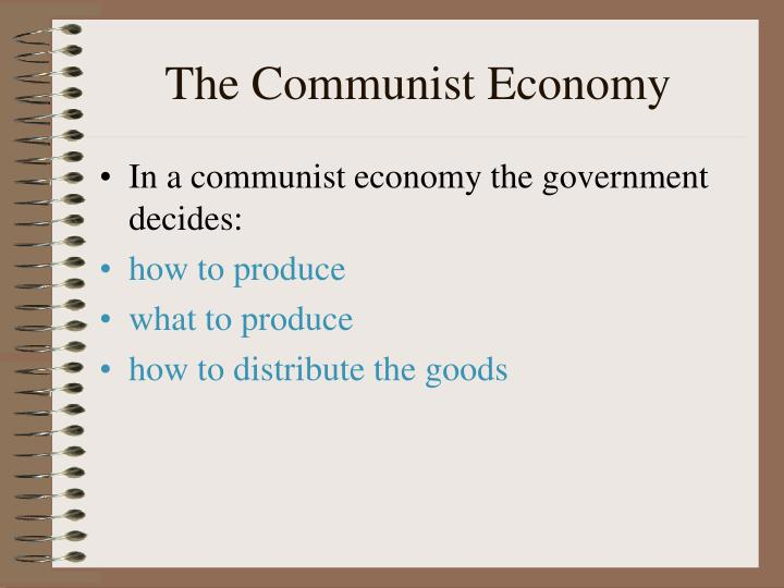 The Communist Economy