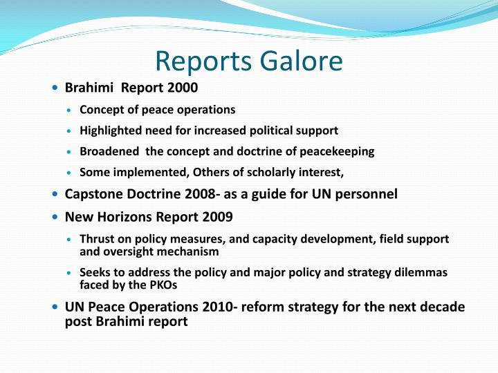 Reports Galore