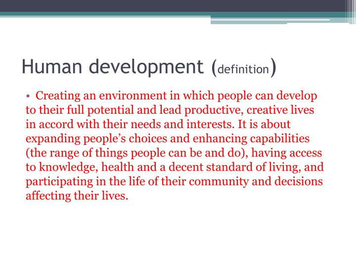 Human development (