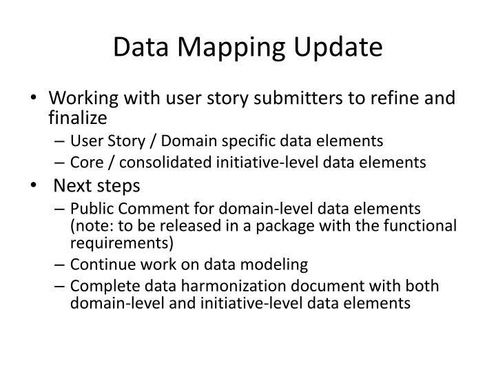 Data Mapping Update