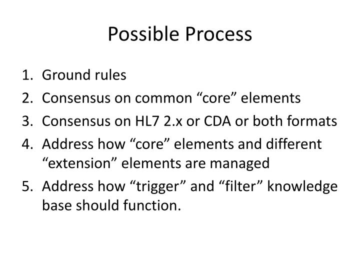 Possible Process