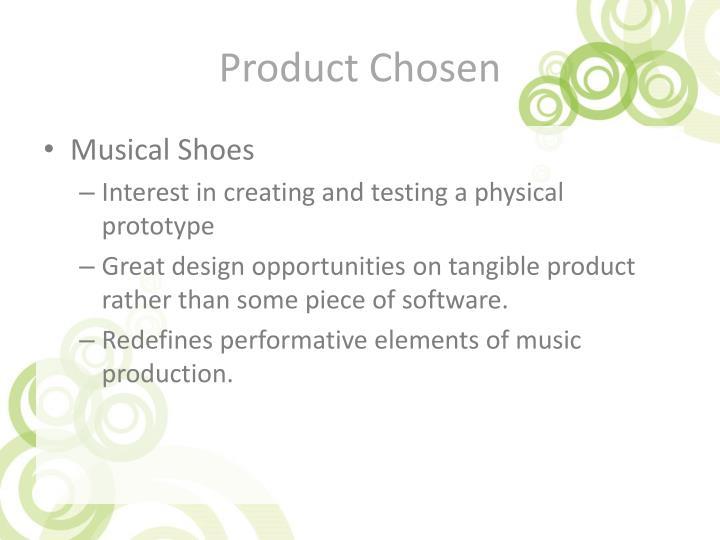 Product Chosen