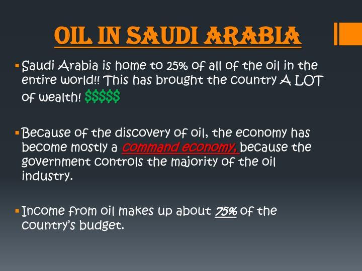 Oil in Saudi Arabia
