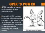 opec s power