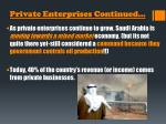 private enterprises continued