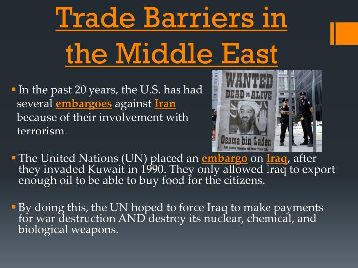 Trade Barriers in