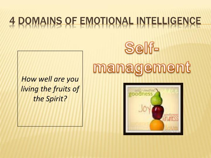 4 Domains of Emotional Intelligence