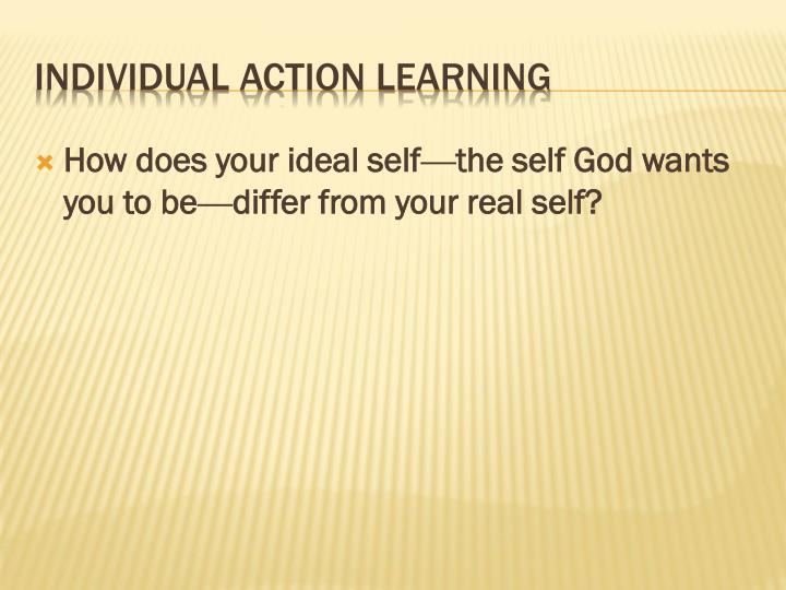 How does your ideal self