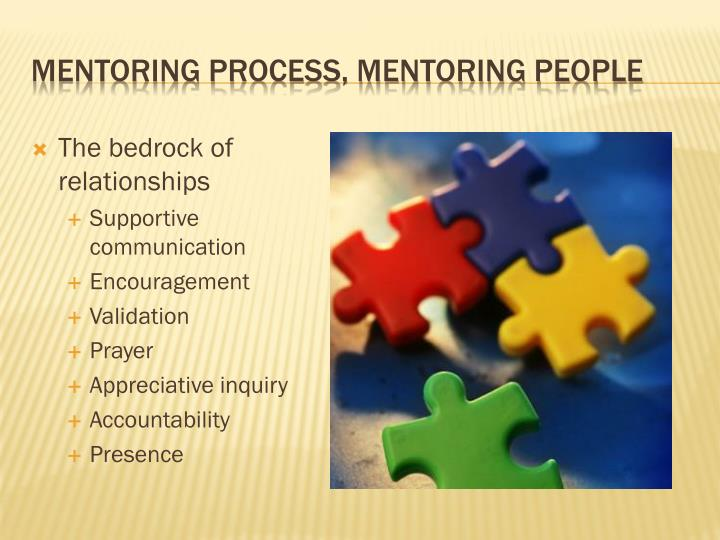 Mentoring process, mentoring people