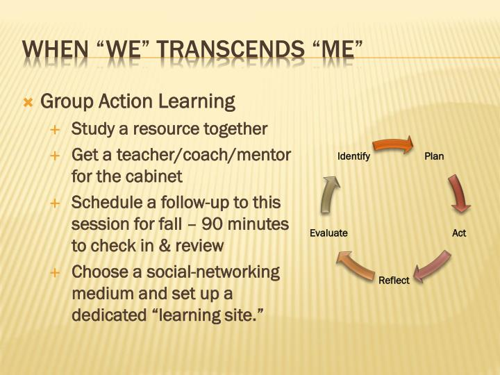 Group Action Learning