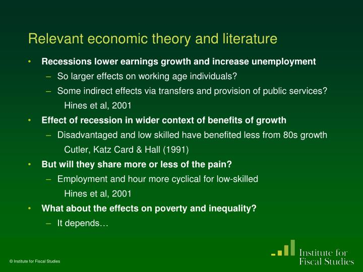Relevant economic theory and literature