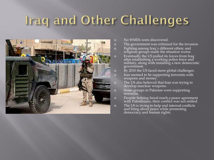 Iraq and Other Challenges