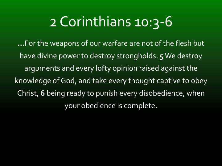 2 Corinthians 10:3-6