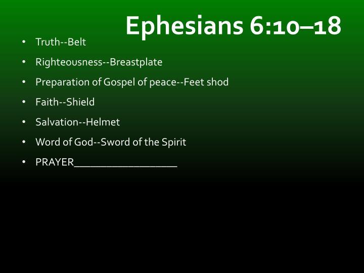 Ephesians 6:10–18
