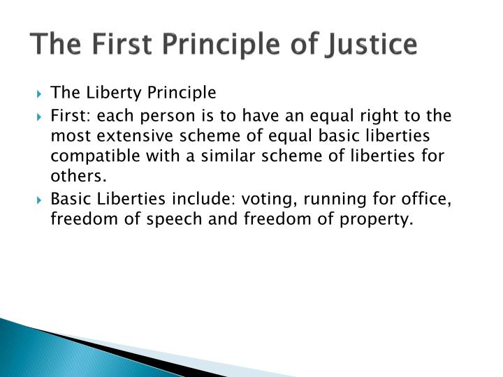 The First Principle of Justice