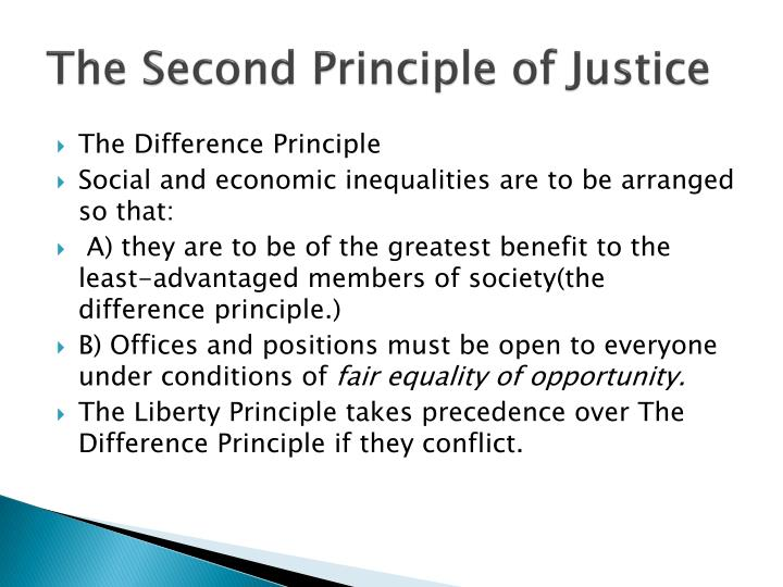 The Second Principle of Justice